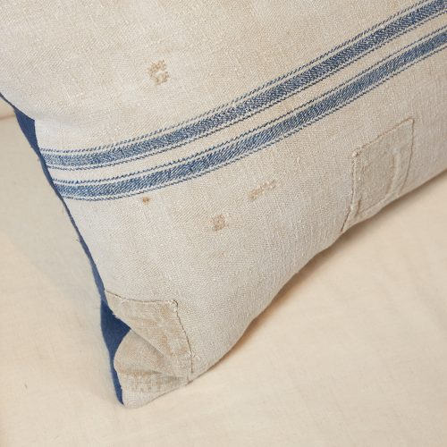 HB900258 – Antique French Linen Grain Sack Cushion-0007