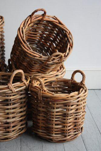 Round Log Baskets
