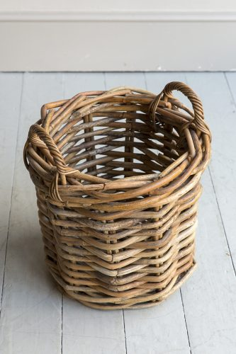 Round Log basket