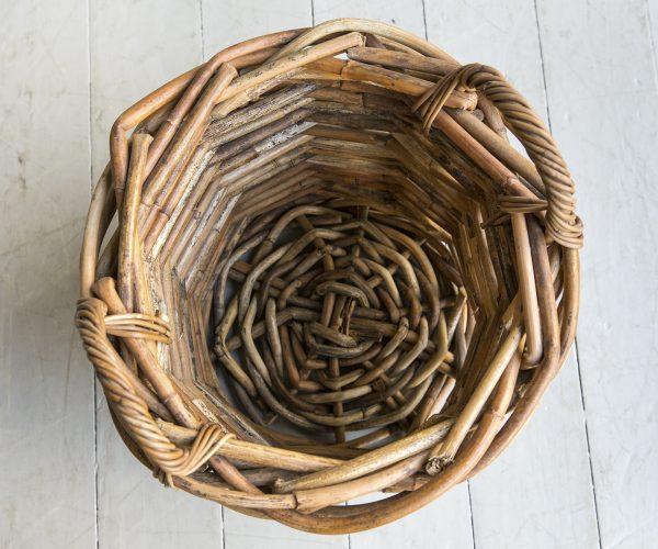 Round Log basket2