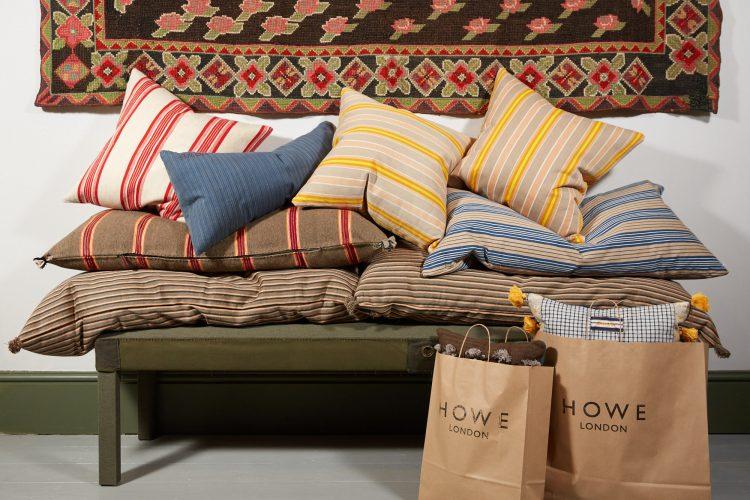Group of Swedish Ticking Cushions-0004