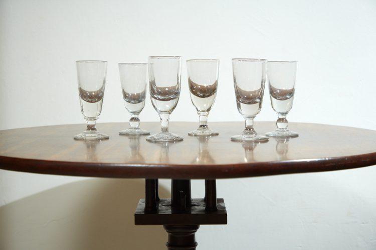 INC0668 – Six C19 Absinthe Glasses-0006