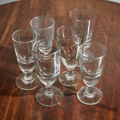 INC0668 – Six C19 Absinthe Glasses-0008