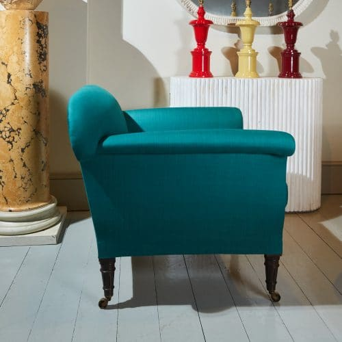 HL4409 – Armchair in Green Silky Cotton-0003 1