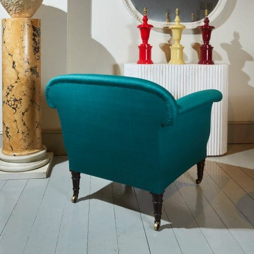 HL4409 – Armchair in Green Silky Cotton-0004 1