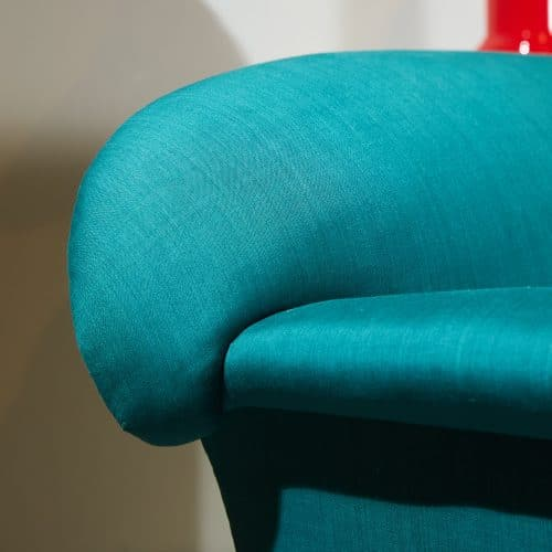 HL4409 – Armchair in Green Silky Cotton-0007