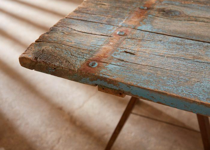 HL4680 – Trestle Table Painted Blue-0017