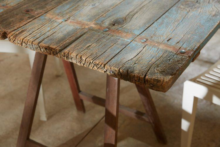 HL4680 – Trestle Table Painted Blue-0027