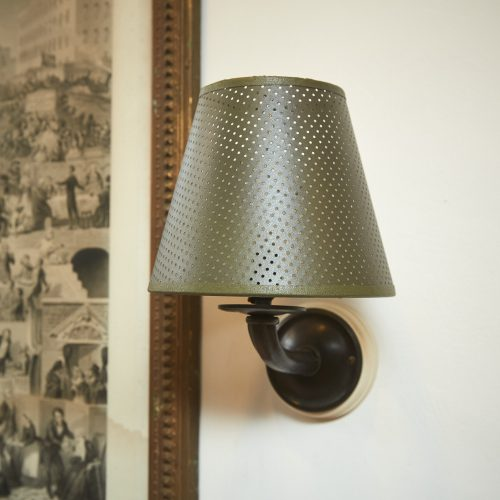 Green Pierced Sconce Shades-0007