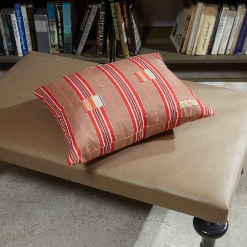 HB900322 – Ticking Cushion with Patches-0006
