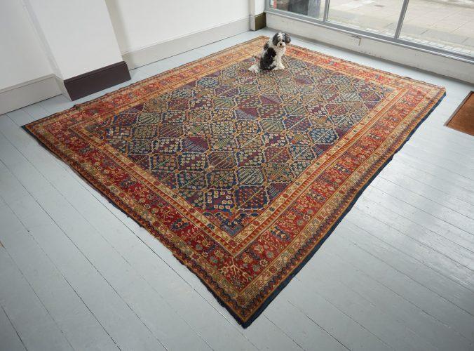 HL3702 – Antique Tabriz Carpet-0002