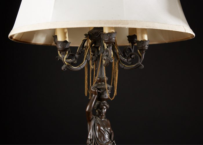 HL4634 – Bronze Lady Lamps with Shades-0002