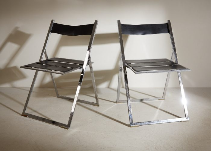INC0740 – Folding Chrome and Leather Chairs-0004