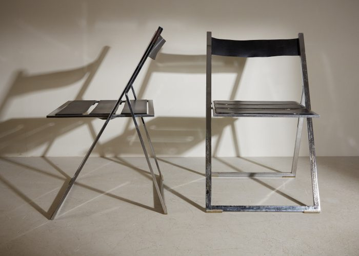 INC0740 – Folding Chrome and Leather Chairs-0009