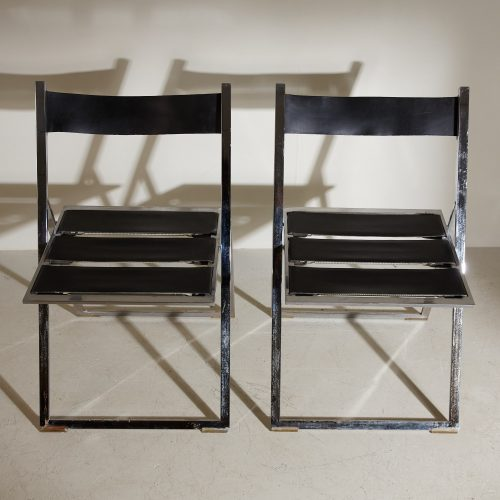 INC0740 – Folding Chrome and Leather Chairs-0010