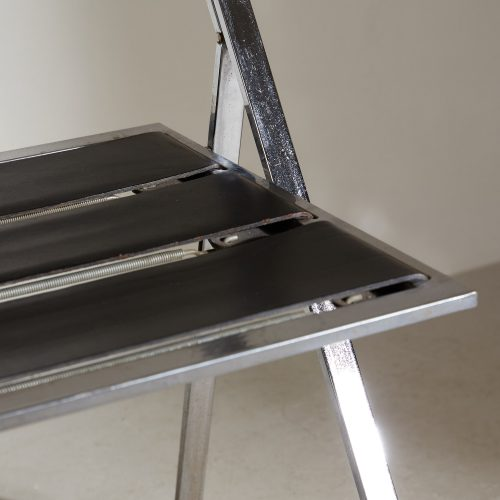 INC0740 – Folding Chrome and Leather Chairs-0011