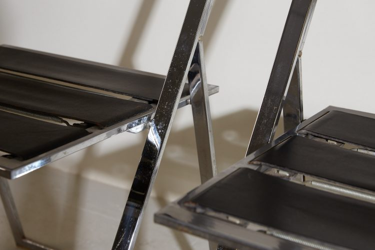 INC0740 – Folding Chrome and Leather Chairs-0013