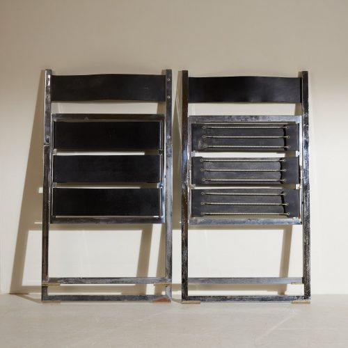 INC0740 – Folding Chrome and Leather Chairs-0020