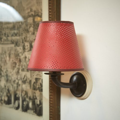 Red Pierced Sconce Shades-0006