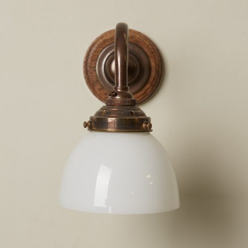 Swan Neck Sconce with Glass Shade-0005