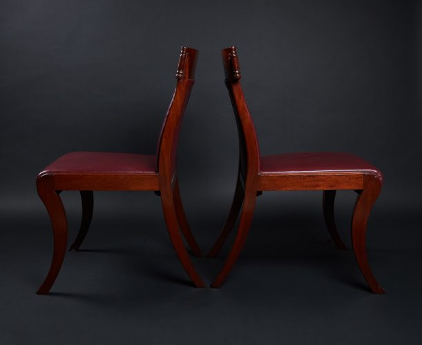 HL3557 – Leather Sabre Legged Chairs-0018