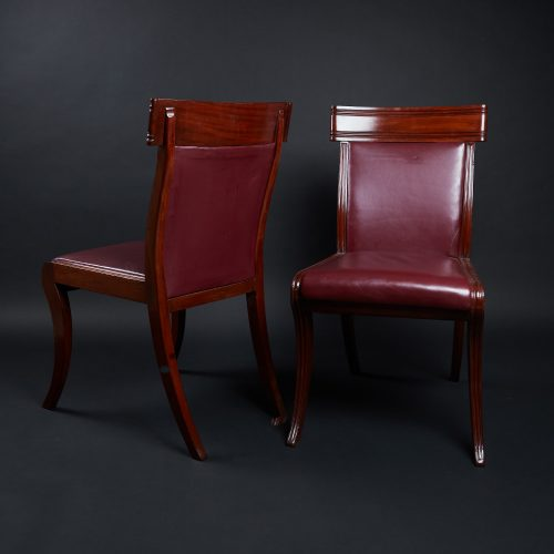 HL3557 – Leather Sabre Legged Chairs-0019