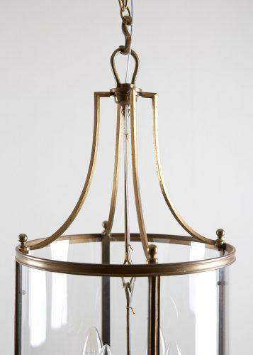HL4542 – Brass Cylindrical Glass Lantern-0003
