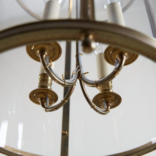 HL4542 – Brass Cylindrical Glass Lantern-0006
