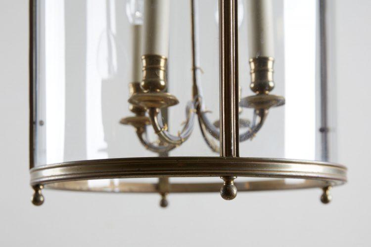 HL4542 – Brass Cylindrical Glass Lantern-0008