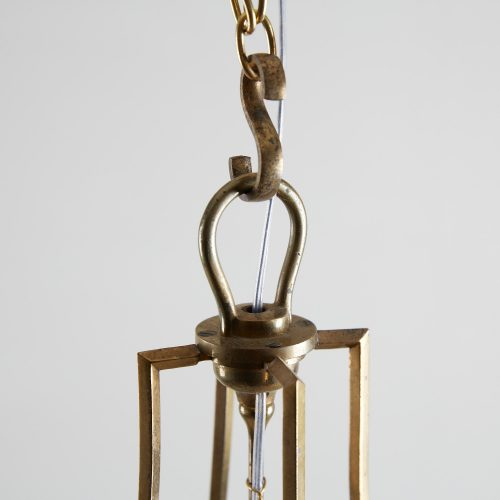 HL4542 – Brass Cylindrical Glass Lantern-0009