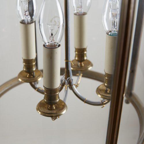 HL4542 – Brass Cylindrical Glass Lantern-0010