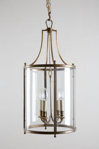 HL4542 – Brass Cylindrical Glass Lantern-0011