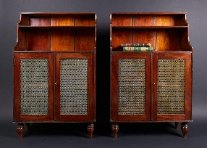 HL4697 – Mahogany Waterfall Bookcases-0002