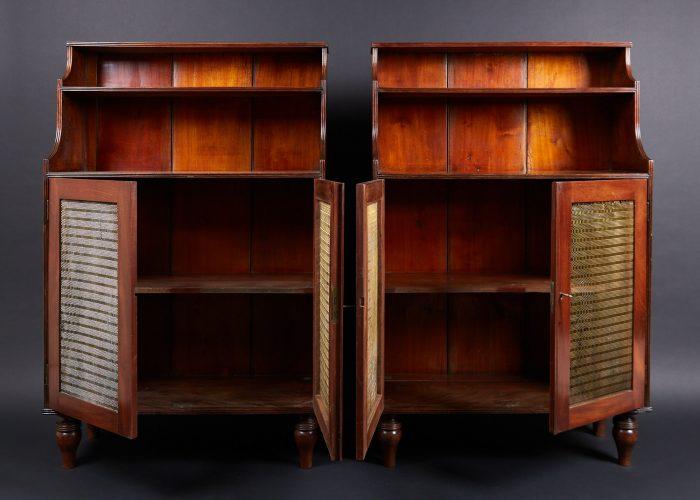 HL4697 – Mahogany Waterfall Bookcases-0004