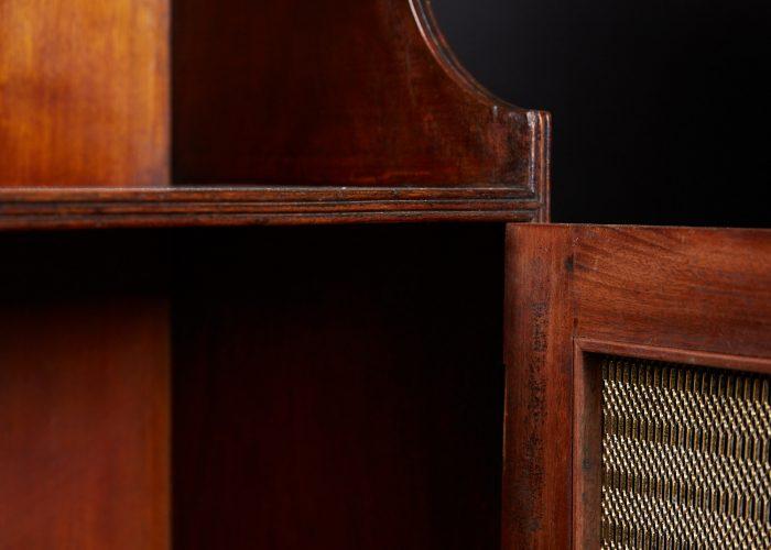 HL4697 – Mahogany Waterfall Bookcases-0015