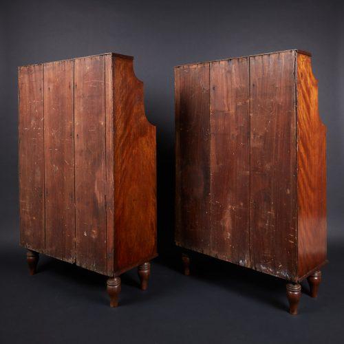 HL4697 – Mahogany Waterfall Bookcases-0018
