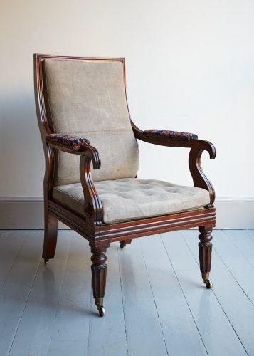 HL4752 – George IV Rosewood Armchair-0001
