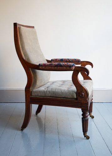 HL4752 – George IV Rosewood Armchair-0003