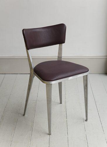 BA3 Cherry Leather Chair