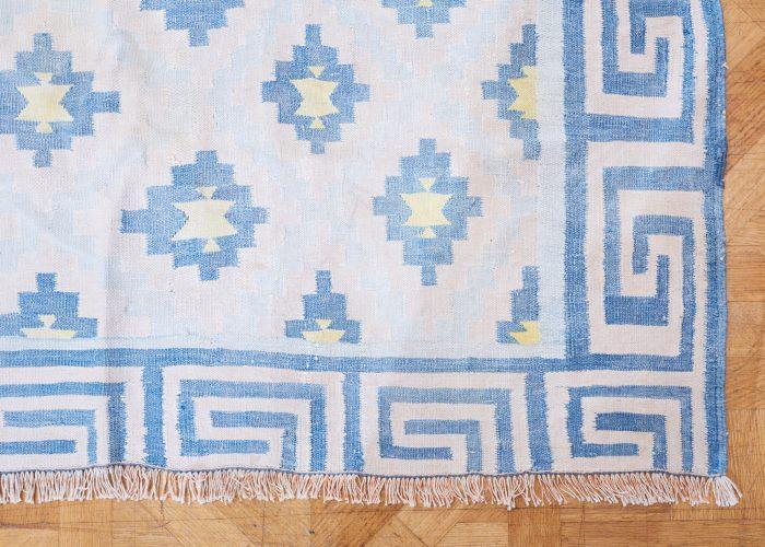 HL4575 – Blue Cotton Dhurrie-0002