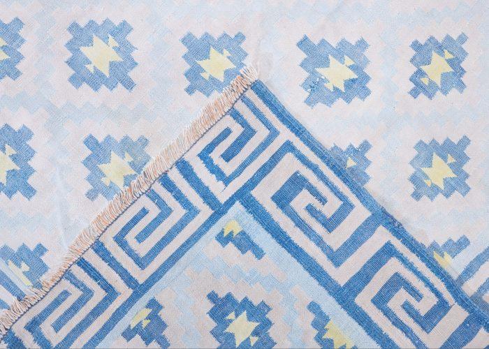 HL4575 – Blue Cotton Dhurrie-0005