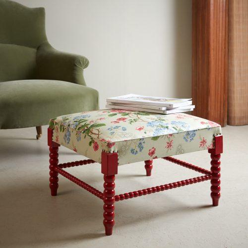 HL4598 – Red Painted Bobbin Stool-0005