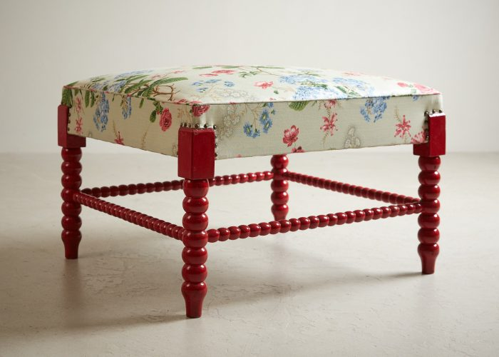 HL4598 – Red Painted Bobbin Stool-0008