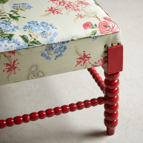 HL4598 – Red Painted Bobbin Stool-0010