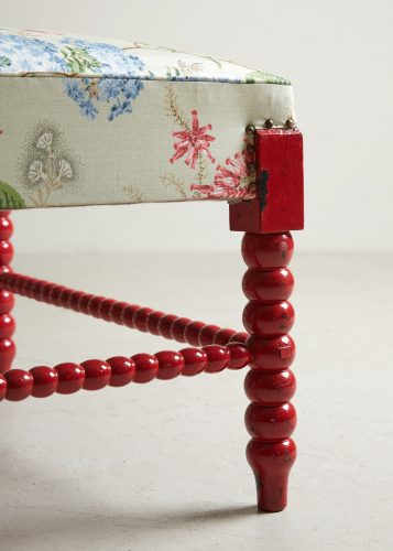 HL4598 – Red Painted Bobbin Stool-0011