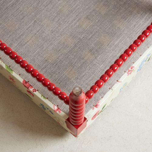 HL4598 – Red Painted Bobbin Stool-0013