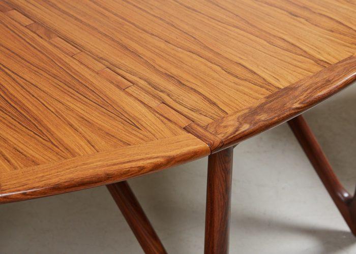 HL4744 – Danish Drop Leaf Table by Kurt Ostervig-0005