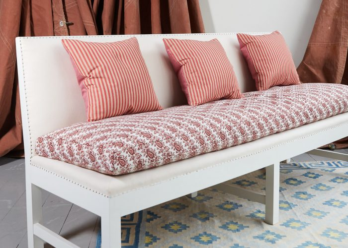 HB900373 – Red Stripe and Pink Linen Cushion-0002