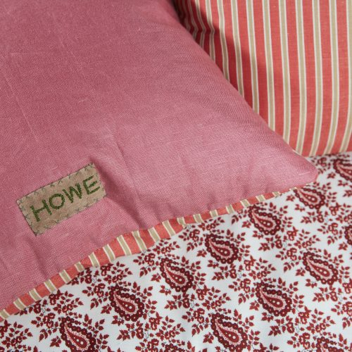 HB900373 – Red Stripe and Pink Linen Cushion-0010