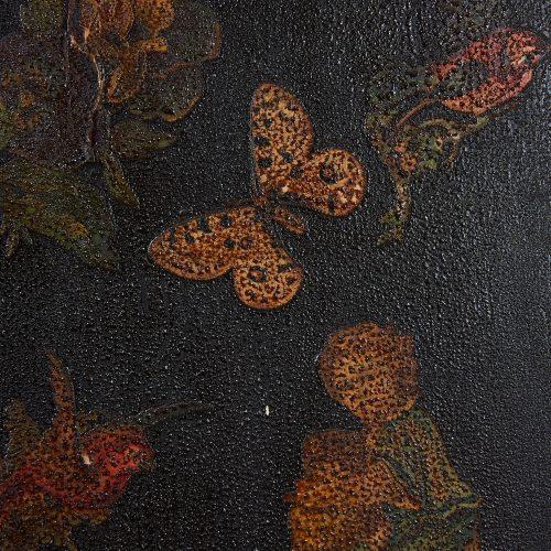 HL4780 – Small Georgian Black Painted Cupboard-0015